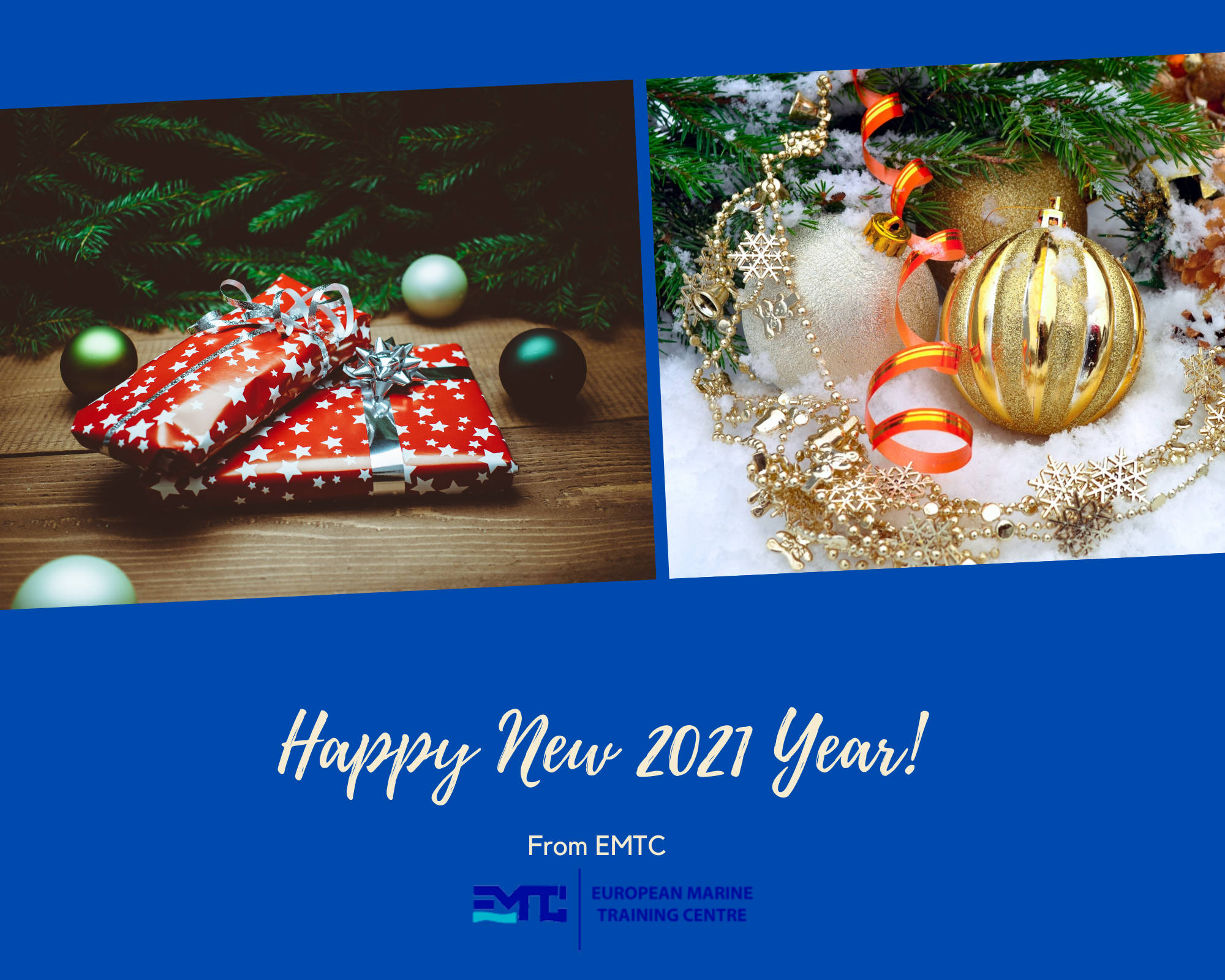 Поздравления с Новым Годом от Европейского Морского Тренажерного Центра